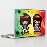 rasta Laptop & iPad Skins featuring Rasta Bubbahs by I love Bubbah