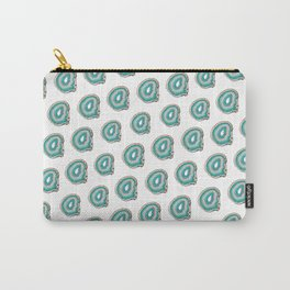 Teal Agate Print Carry-All Pouch