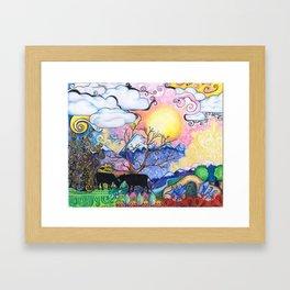 Title Framed Art Print