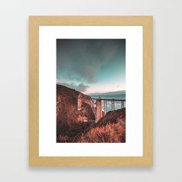 Bixby Bridge Sunset Framed Art Print