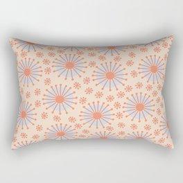 Carousel Retro Blue Rectangular Pillow