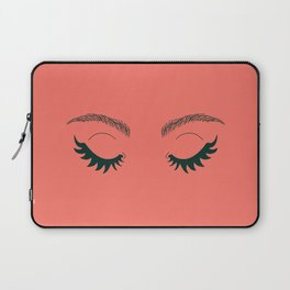 Betty Gone Batty (Forest Green on Coral Edition) Laptop Sleeve