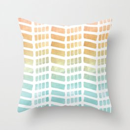 Ombre pattern Throw Pillow