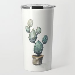 Green-Blue Cactus Travel Mug