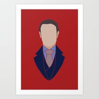 hannibal Art Prints featuring Hannibal by Alice Wieckowska