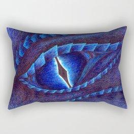 Blue Dragon's Eye Rectangular Pillow