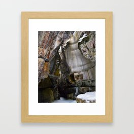 Ice Canyon in Canada Framed Art Print