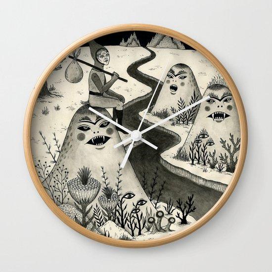 Weary Vagabond  Wall Clock