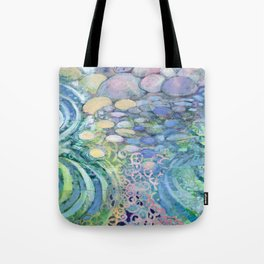 Contemplation - pebbles in water abstract by Jenlo Tote Bag