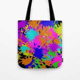 Splatoon Ink Fight Pattern Tote Bag