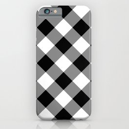Gingham Plaid Black & White iPhone Case