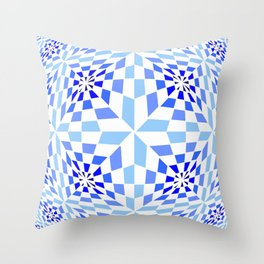 Tribute to Vasarely 12 Throw Pillow