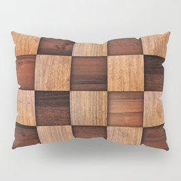 Wooden squares Pillow Sham