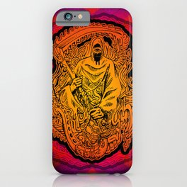 Psychedelic Grim Reaper iPhone Case
