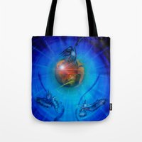 freedom Tote Bags featuring Freedom by Walter Zettl