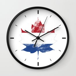 Netherlands/Canada Wall Clock