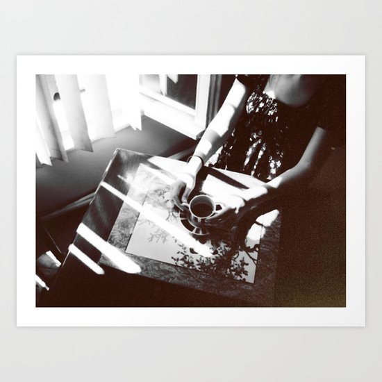 Coffee and Cigarettes  Art Print