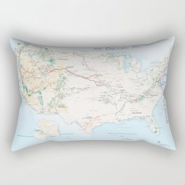 National Parks Trail Map Rectangular Pillow
