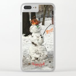 Holiday spirit Clear iPhone Case