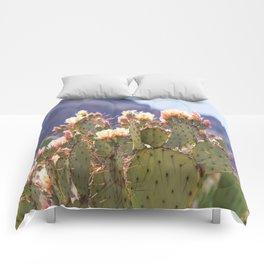 Prickly Pear Cactus Blooms, II Comforters