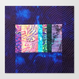 Quilted Purple Hand-Dyed with Scrappy Panel Canvas Print