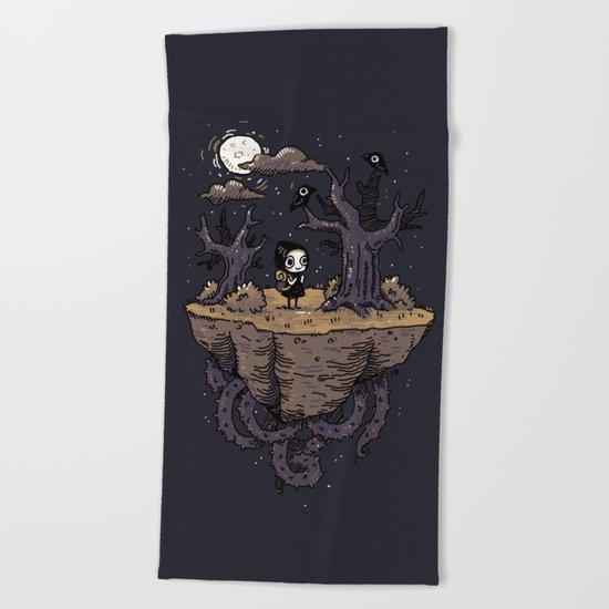 Dark Wood Beach Towel