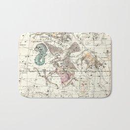 Taurus, Antinous, Aquila, Delphinus Constellations Celestial Atlas Plate 10 - Alexander Jamieson Bath Mat