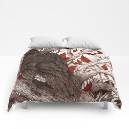 A Raven In Winter Comforters