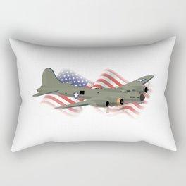 Patriotic B-17 Flying Fortress WW2 Heavy Bomber Rectangular Pillow