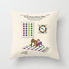 Twister Patent Throw Pillow