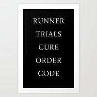 maze runner Art Prints featuring Maze Runner Titles by IA Apparel