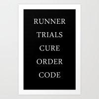 the maze runner Art Prints featuring Maze Runner Titles by IA Apparel