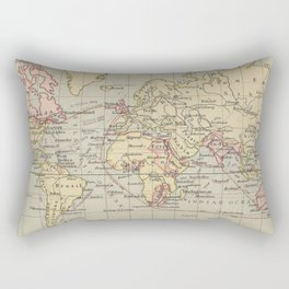 Vintage Map of The World (1914) Rectangular Pillow