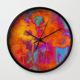 bright abstract bouquet Wall Clock