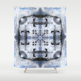 Reflections: Place Masséna Shower Curtain