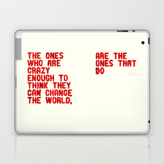 The Crazy Ones Laptop & iPad Skin
