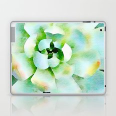 Mint Watercolor Succulent Laptop & iPad Skin
