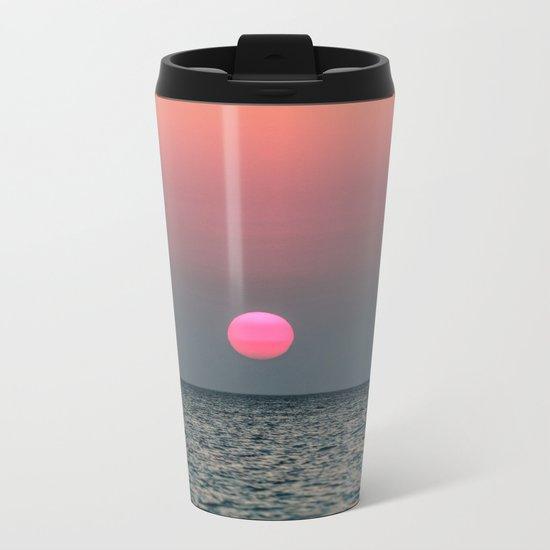Sunset over the Pacific Metal Travel Mug