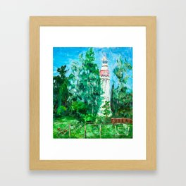 Lighthouse in Mersrags, Latvia Framed Art Print