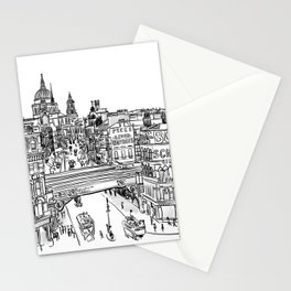London street drawing - Old Farringdon Stationery Cards