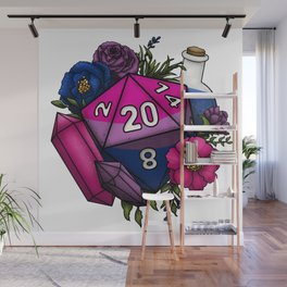 Pride Bisexual D20 Tabletop RPG Gaming Dice Wall Mural