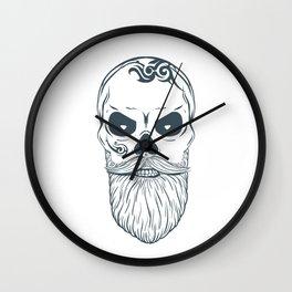 Fear the beard - Halloween Hipster Wall Clock