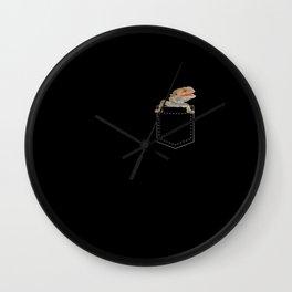 Bearded Dragon in Pocket Wall Clock