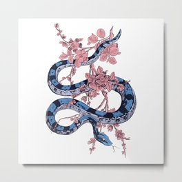 Jungle Snake Metal Print