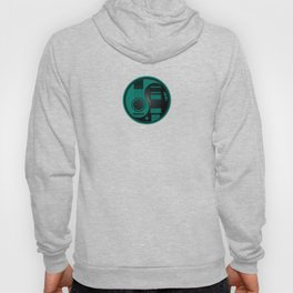 Teal Blue and Black Acoustic Electric Yin Yang Guitars Hoody