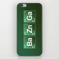bazinga iPhone & iPod Skins featuring Breaking Bazinga by dutyfreak