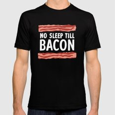 No Sleep Till Bacon Mens Fitted Tee Black SMALL