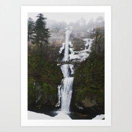Multnomah Falls in the Winter Art Print
