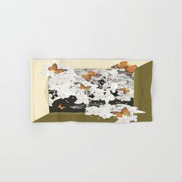 Hydrangea And Butterflies in Frame #decor #society6 Hand & Bath Towel