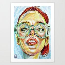"""Glowing 2"" Art Print"